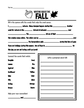 Context and Comprehension- Seasons AUTUMN