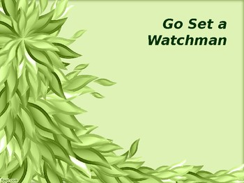 Context and Discussion of Go Set a Watchman