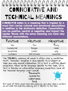 Context and Word Meaning - Informational Reading Toolkit - RI.6.4.