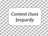 Context clues Jeopardy