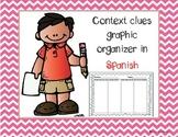 Context clues graphic organizer in Spanish/ Claves de contexto