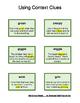Context clues vocabulary matching activity