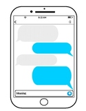 iphone text message template (editable), con-text clues, context