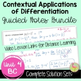Contextual Applications of Differentiation Guided Notes (B