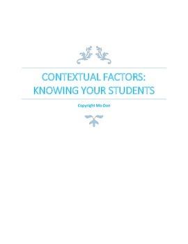 Contextual Factors: Knowing Your Students-Graduate Document