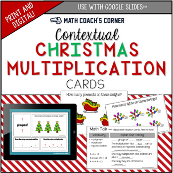 Contextual Multiplication Christmas Freebie