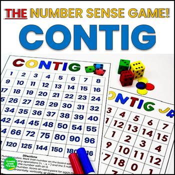 Math Game for Number Sense - Contig