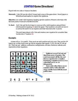 Contigo! A Math Equations Game