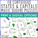 States and Capitals Worksheet Alternatives, Games, Test, or Review Materials