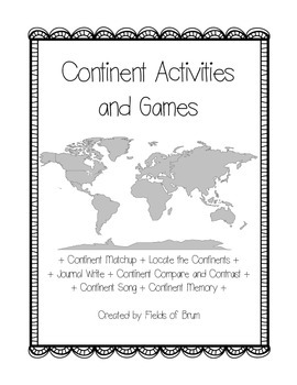 Continent Activities and Games --Geography--