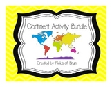 Continent Activities Bundle-- Geography