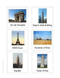Continent Animal Cards, World Landmarks