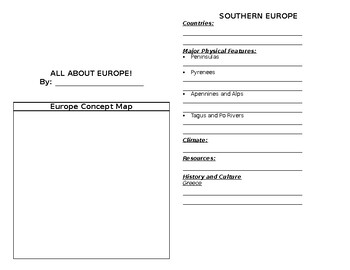 Continent Booklet: Europe