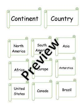 Continent / Country Sort
