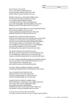 Continent Drift Poem