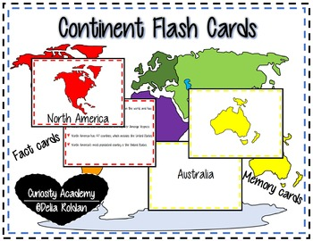 Continent Flash Cards