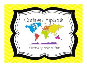 Continent Flipbook -Geography Activity--