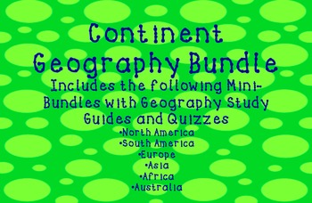 Continent Geography Bundle