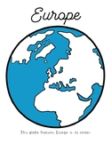 ALL 7 Continents Globe Coloring Pages, Montessori World Study