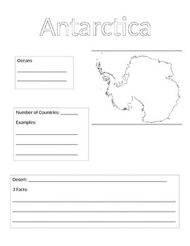 Continent Information Gathering Form-Antarctica