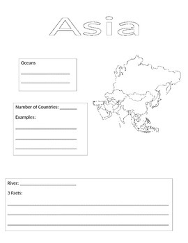 Continent Information Gathering Form-Asia