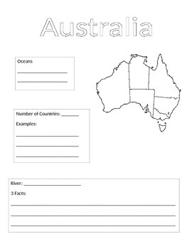 Continent Information Gathering Form-Australia