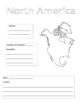 Continent Information Gathering Form-North America