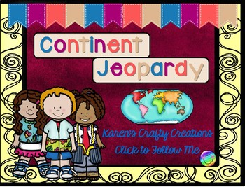 Continent Jeopardy - Interactive Game