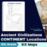 Ancient Civilizations: Continent Maps
