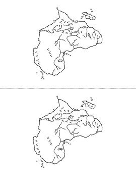 Continent Map Writing ~ Print