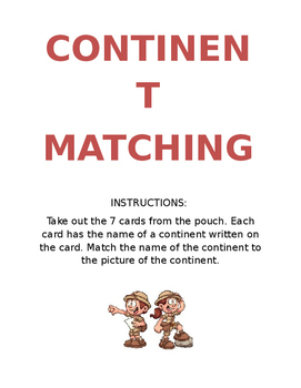 Continent Matching