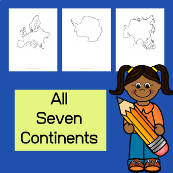 Continent Outlines for Student Work and Projects