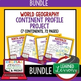 Continent Profile Project BUNDLE World Geography, Digital Distance Learning