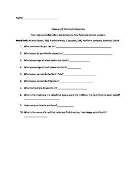 Continent Questions