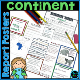 Continent Report (Poster) Template for Intermediate Grades