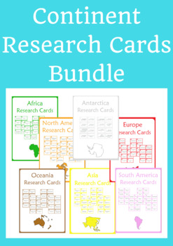 Continent Research Bundle