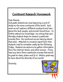 Continent Research Homework