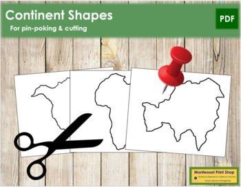 Continent Shapes: Pin-Poke & Cutting