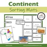 Continent Sorting Mats
