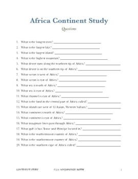 Continent Study