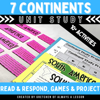 Continents Study Unit for Third Grade