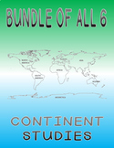 Continent Study Bundle - 223 Countries - Worksheets, maps