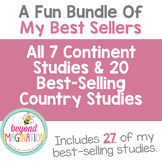 Continent Study Bundle + Top 20 Best-Selling Country Studies