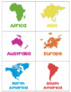Continent Table Groups Labels & Posters