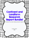 Continent and Landform Research Report BUNDLE!