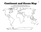 Continent and Ocean Map Worksheet Blank