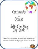 Continent and Ocean Self-Checking Clip Cards