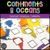 Continent and Oceans Activities | Game | Task Cards | Centers