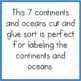 Continent and Oceans >> Cut and Glue Activity