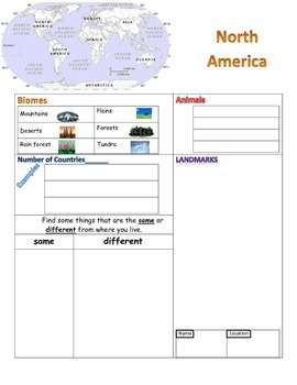 Continent fact gathering page- North America